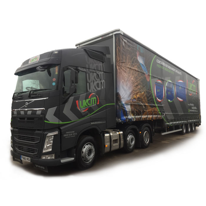 UK container maintenance truck and lorry curtain design